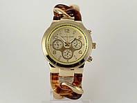 Часы женские Michael Kors плетеный браслет с коричневыми звеньями