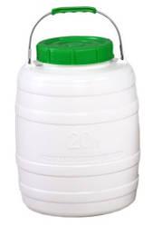 Фляга пластмассовая пищевая 20 л (горловина 156 мм)