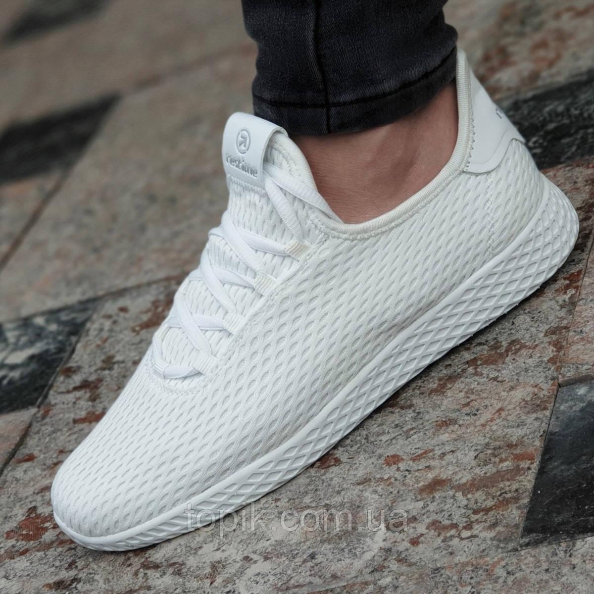 a3b500e2 Женские белые кроссовки текстильные легкие и удобные мягкая подошва из  пенки (Код: 1341)