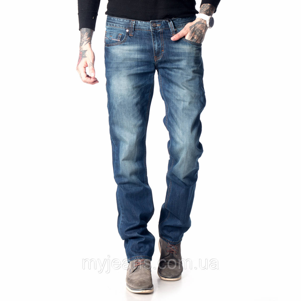 Мужские джинсы Franco Benussi 15-108 темно синие
