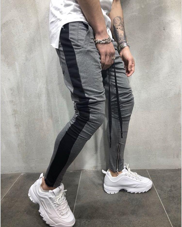 65dcaf70 Мужские спортивные штаны зауженные с лампасами , серые с черным - Marvin  Shop в Киеве