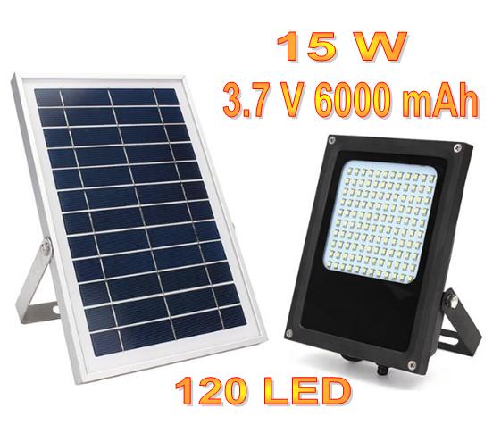 Уличный светильник на солнечной батарее  с датчиком освещенности 15 Вт 120 LED 3.7 В/6000 мАч