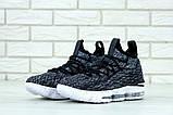 "Баскетбольные кроссовки Nike Lebrоn ""Black/White"" (Найк) черно-белые, фото 3"