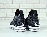 "Баскетбольные кроссовки Nike Lebrоn ""Black/White"" (Найк) черно-белые, фото 9"