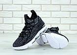 "Баскетбольные кроссовки Nike Lebrоn ""Black/White"" (Найк) черно-белые, фото 6"