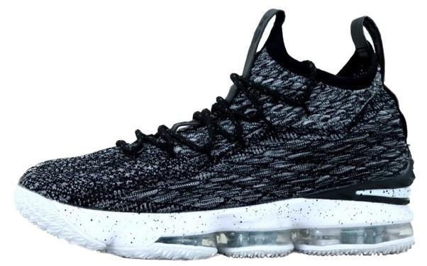 """Баскетбольные кроссовки Nike Lebrоn """"Black/White"""" (Найк) черно-белые"""