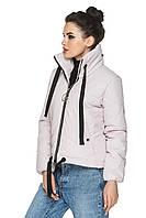 Демисезонная короткая женская куртка с плотной плащевой ткани. Размеры с 44 по 54. Пять цветов. Код Моника