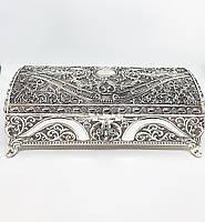 Декоративная шкатулка M Vizyon из мельхиора с посеребрением прямоугольная
