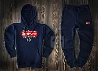 Мужской спортивный костюм Supreme синего цвета  (люкс копия)