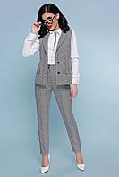 Деловой женский костюм двойка Жилет и брюки.