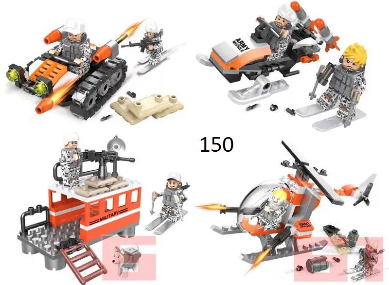 Мини-фигурки SWAT спецназ военные солдаты Лего Lego BrickArms