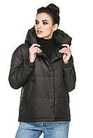 Демисезонная короткая женская куртка с вшитым капюшоном. Размеры с 44 по 56. Пять цветов. Код Лайма