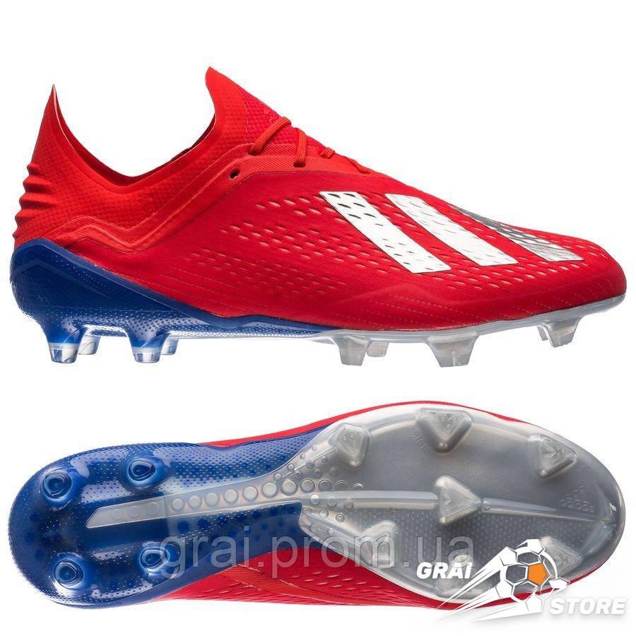 099228f2 Бутсы adidas X 18.1 FG/AG Red/Silver/Blue, цена 4 890 грн., купить в ...