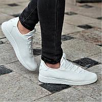 Женские белые кроссовки текстильные легкие и удобные мягкая подошва из пенки (Код: 1341а), фото 1