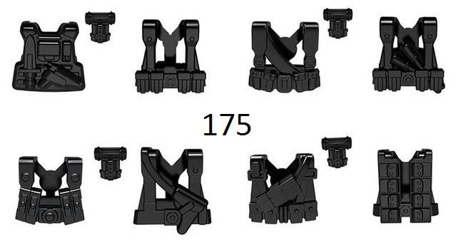 Набор бронежилетов для фигурок спецназ солдат военнослужащие лего Lego