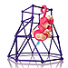 Качели, Башенка для Fingerlings Monkey, фото 2