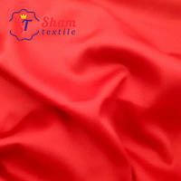 Стрейч атлас однотонный красный