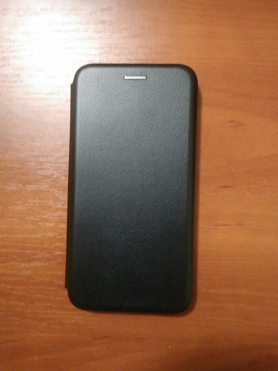 Чехол- книга Premium для Samsung J6  plus 2018 / J 610 (черный)