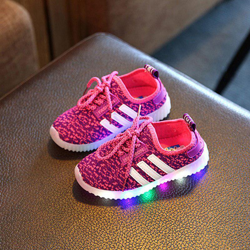 """Детские светящиеся кроссовки на батарейках """"Magenta"""" 22-23р"""