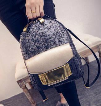 Стильный женский рюкзак серый
