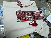 Рубашка Вышиванка Лен детская для мальчиков р.86 - 146