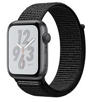 Apple Watch Series 4 GPS 44mm Space Gray Aluminium Case with Black Sport Loop (MU6E2)