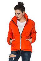 Демисезонная короткая женская куртка с асимметричным низом. Размеры с 44 по 54. Пять цветов. Код Гера