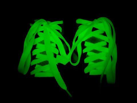 Светящиеся фосфорные шнурки, люминесцентные