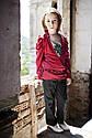 Комплект для девочек Тригон: пальто, туника, брюки  Артикул 730, фото 2