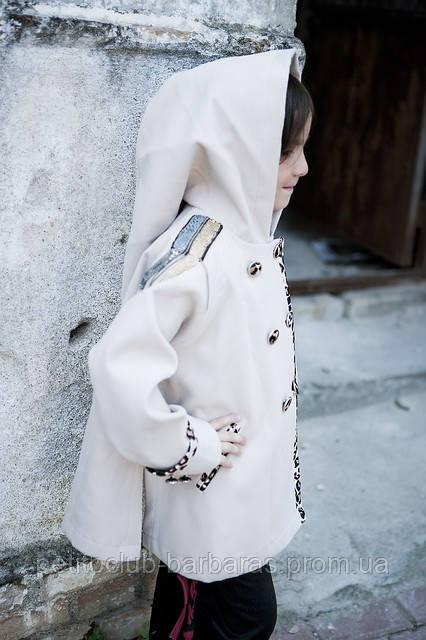 Комплект для девочек Тригон: пальто, туника, брюки  Артикул 730