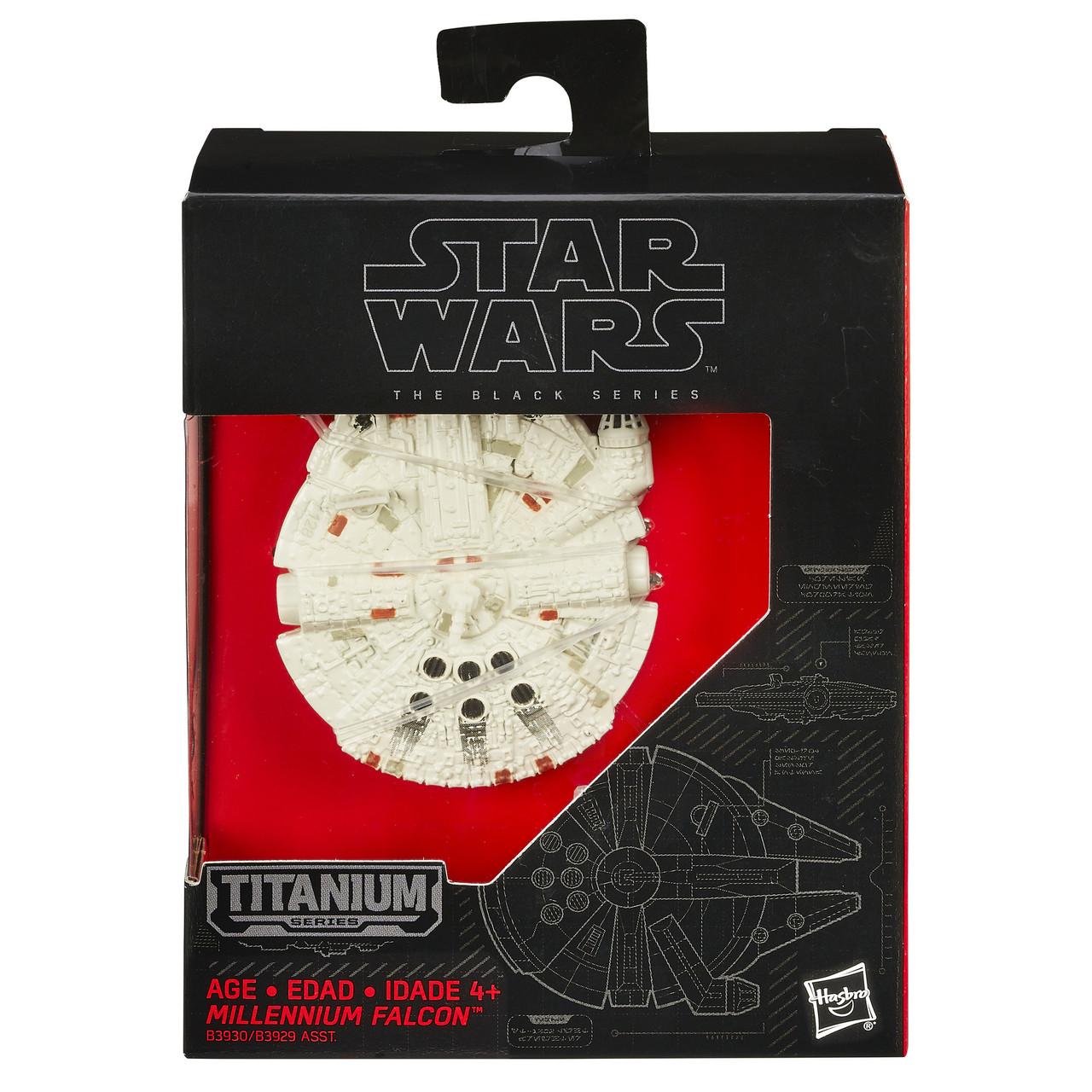 Коллекционная модель Titanium Звездные войны Тысячелетний сокол 7,5 см. Оригинал Hasbro B3930/B3929