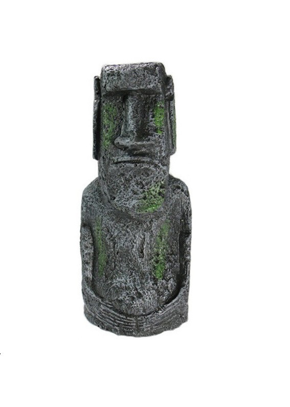 Декор для аквариума Статуя острова Пасхи маленькая 13 см