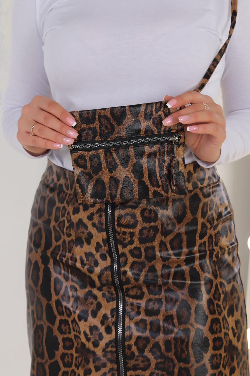 Стильная женская маленькая сумочка на длинном тонком ремешке