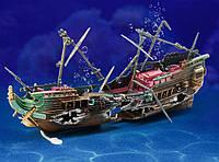 Экшн декор для аквариума Корабль с аэрацией 24 см