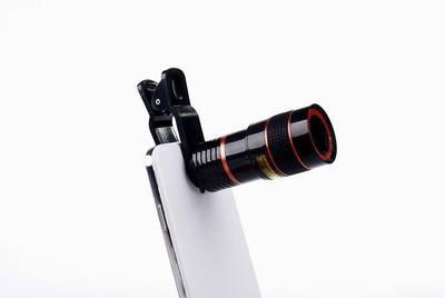 Универсальная клипса объектив для мобильных телефонов 8x F1.1 черная