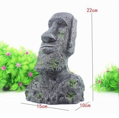 Декор для аквариума Статуя острова Пасхи огромная