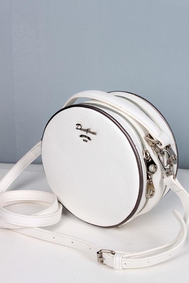 3eea2d7df217 Круглая женская сумка David Jones белого цвета. - Интернет-магазин сумок и  аксессуаров