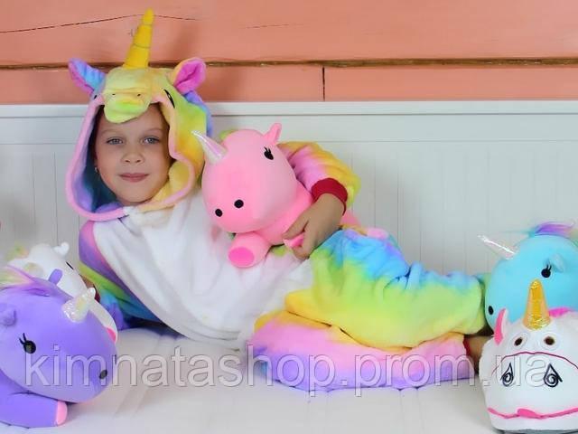 детская пижама кигурми единорог радужный