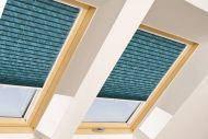 Складчаста штора FAKRO APS на направляючих для мансардних вікон штори Факро плисированная штора Fakro
