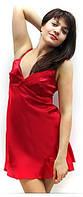 Пеньюар, ночная сорочка красная, шелк+шифон, размеры 42 - 48. Розница и опт красивое белье для дома и сна.