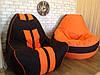Кресло мешок Ферари , бескаркасное кресло груша , мягкий пуфик, бескаркасная мебель, мебель Лофт, фото 6