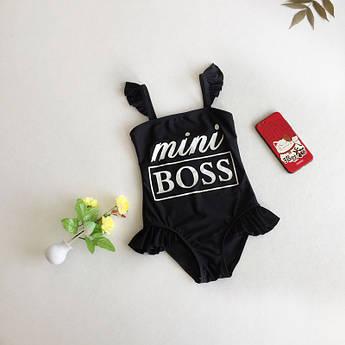 Купальник детский Mini Boss, боди детское, боди на девочку, купальник для малышки на 4 года