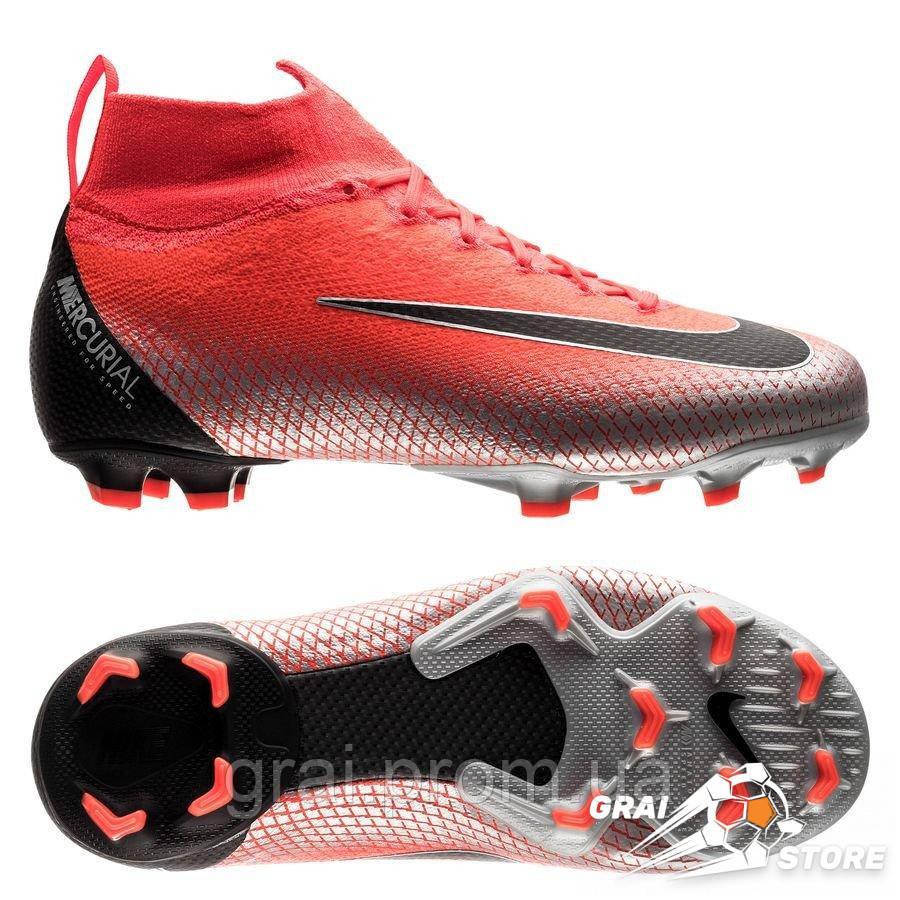 c6bbe230 Детские бутсы Nike Mercurial Superfly VI Elite FG CR7 Red/Black - Интернет  магазин Грай
