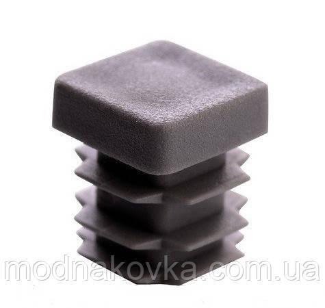 Заглушка пластиковая квадратная 15х15 мм серая