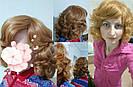 🖤 Кудрявый парик из натуральных волос, русый, фото 9