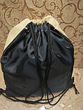 Сумка рюкзак-мешок Supreme искусств кожа(только ОПТ ) Сумка для обуви на затяжках, фото 4