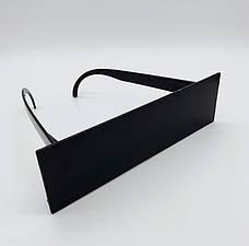 Модные солнцезащитные очки прямоугольной формы. Черные Очки, фото 3