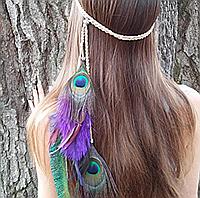 Повязка для волос с перьями в стиле Бохо
