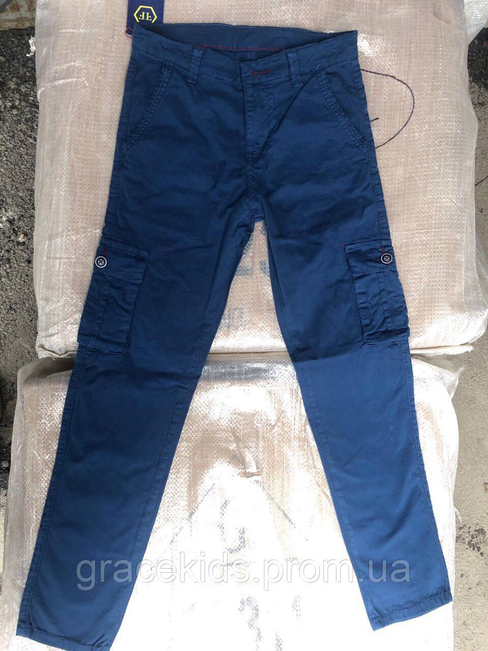 Брюки командосы для мальчиков подростковые с накладными карманами Cool Finish,разм 11-15лет