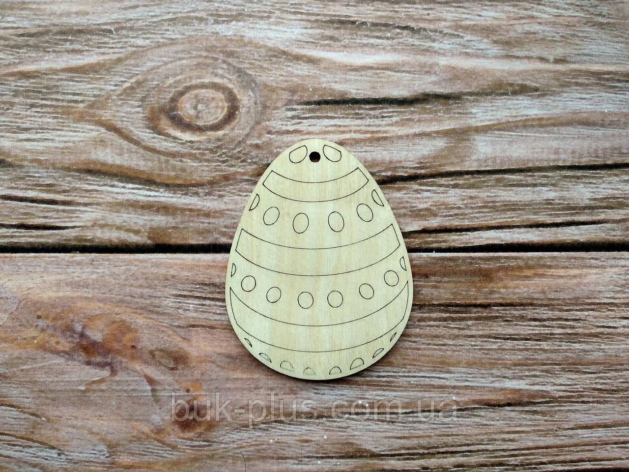 Деревянная заготовка из фанеры. Пасхальное яйцо № 1  (55х70 мм.)